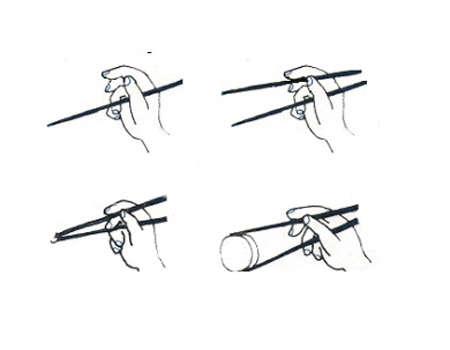 usar palillos