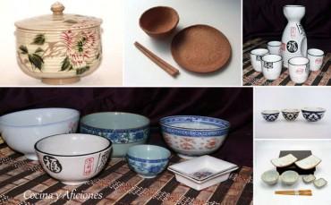 Protocolo, vajilla y demás enseres en la cocina japonesa, apuntes,