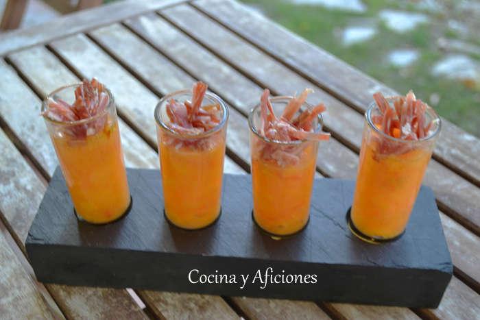 vasito de persimon y jamon iberico ok