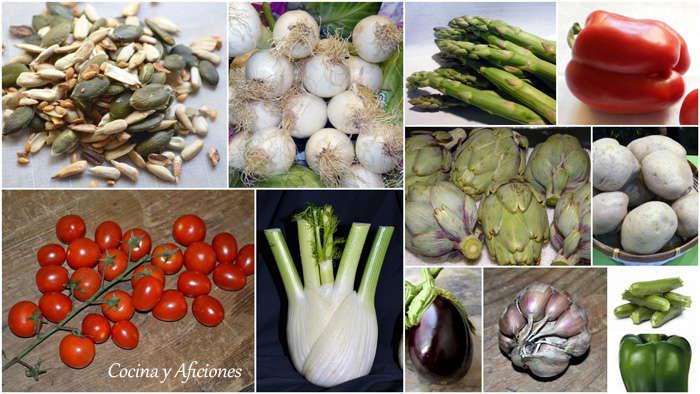 verduras collage