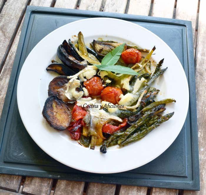 verduras con queso de cabra 0