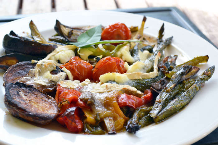 verduras con queso de cabra 01