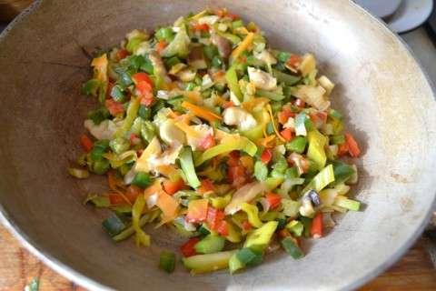 verduras en sarten