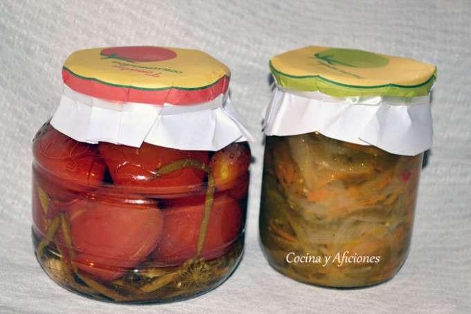 verduras encurtidas