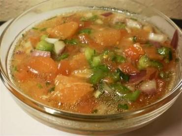 Vinagreta de tomate, receta
